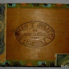 Cajas de Puros: CAJA DE PUROS HABANOS .-CUBA ROMEO Y JULIETA (VACIA) PRE REVOLUCION. Lote 110191051