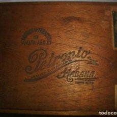Cajas de Puros: CAJA DE PUROS HABANOS .-CUBA PETRONIO (VACIA) PRE REVOLUCION. Lote 110191163
