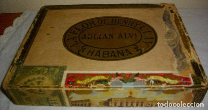 Cigar Boxes: HABANOS CIGAR BOX.-CUBA LA FLOR DE HENRRY CLAY (EMPTY) PRE REVOLUTION - Photo 3 - 110191375