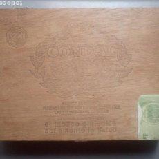 Cajas de Puros: CAJA ANTIGUA MADERA PUROS CONDAL. Lote 110593032