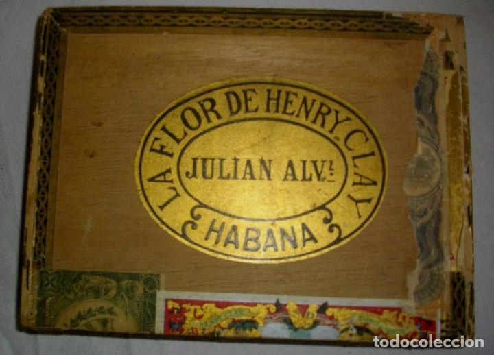 Cigar Boxes: HABANOS CIGAR BOX.-CUBA LA FLOR DE HENRRY CLAY (EMPTY) PRE REVOLUTION - Photo 1 - 110191375