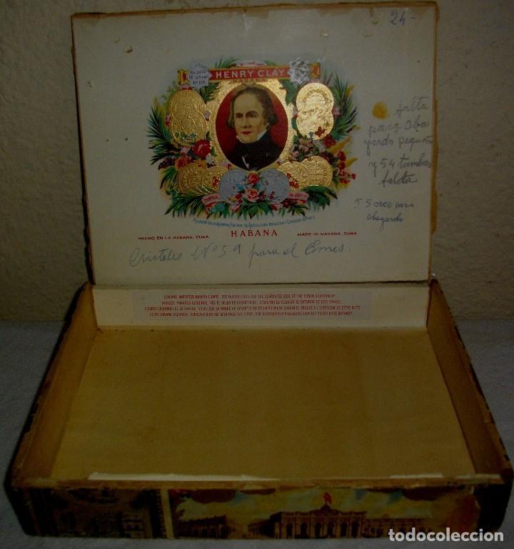 Cigar Boxes: HABANOS CIGAR BOX.-CUBA LA FLOR DE HENRRY CLAY (EMPTY) PRE REVOLUTION - Photo 2 - 110191375