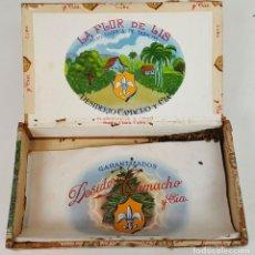 Cajas de Puros: CAJA DE PUROS. MADERA. LA FLOR DE LIS. SANTA CLARA. CUBA. SIGLO XX. . Lote 111695383