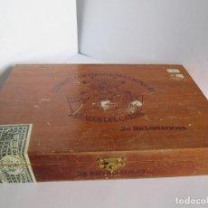 Cajas de Puros: CAJA DE PUROS VACIA - COMPAÑIA DE TABACOS MERIDIONALES - TABACOS DEL CARIBE - 25 DIPLOMATICOS - 23,5. Lote 112261911