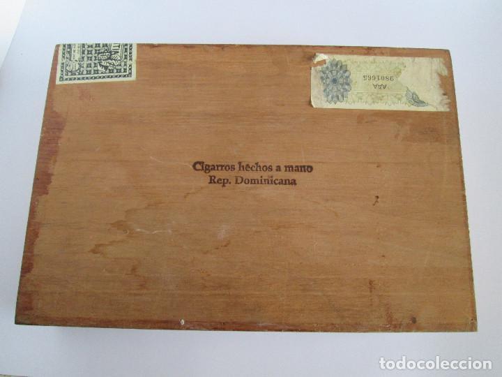 Cajas de Puros: CAJA DE PUROS VACIA - COMPAÑIA DE TABACOS MERIDIONALES - TABACOS DEL CARIBE - 25 DIPLOMATICOS - 23,5 - Foto 4 - 112261911