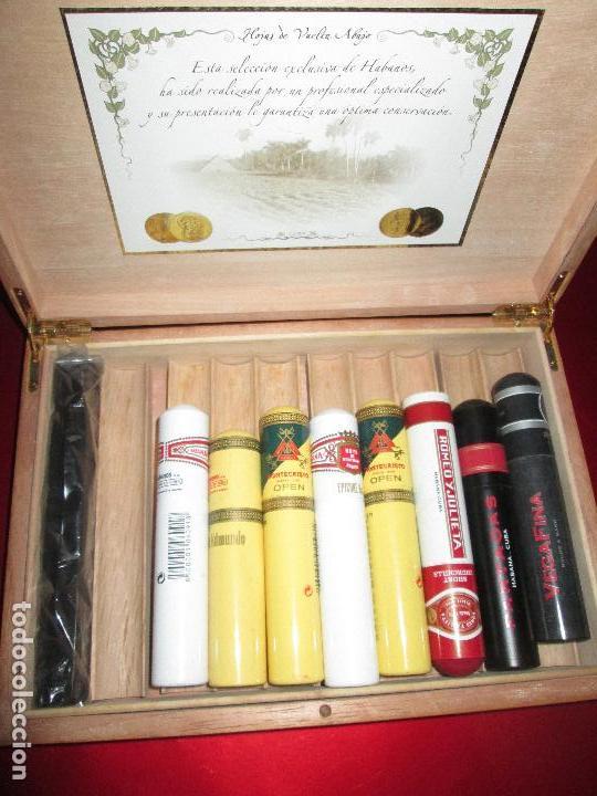 Cajas de Puros: caja puros-con tubos vacíos gruesos+cerillas-coleccionistas-ver fotos - Foto 2 - 112272731