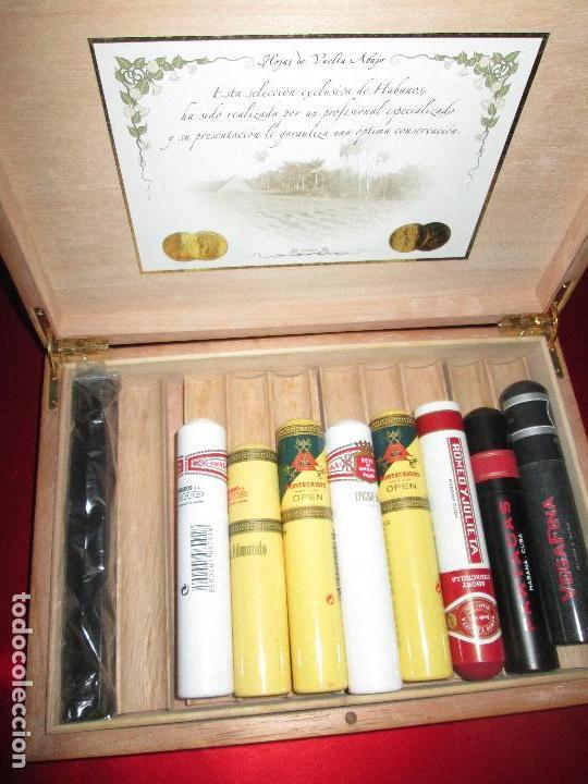 Cajas de Puros: caja puros-con tubos vacíos gruesos+cerillas-coleccionistas-ver fotos - Foto 4 - 112272731