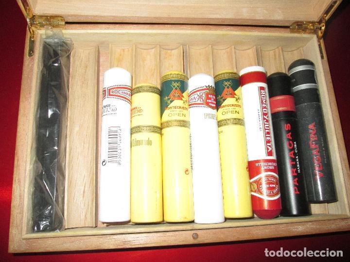 Cajas de Puros: caja puros-con tubos vacíos gruesos+cerillas-coleccionistas-ver fotos - Foto 6 - 112272731