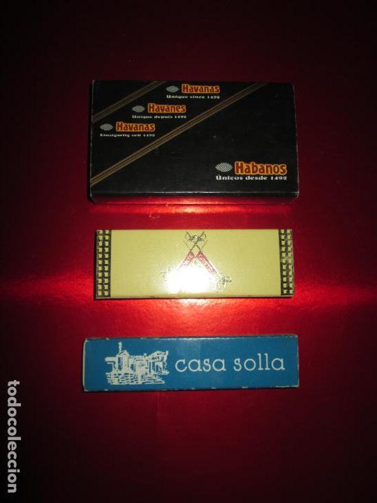 Cajas de Puros: caja puros-con tubos vacíos gruesos+cerillas-coleccionistas-ver fotos - Foto 8 - 112272731