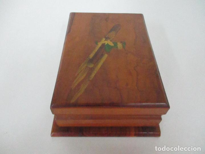 Cajas de Puros: Preciosa Caja de Puros y Cigarrillos - Madera de Olivo - con Departamentos - Bonita Decoración Tapa - Foto 10 - 112434847