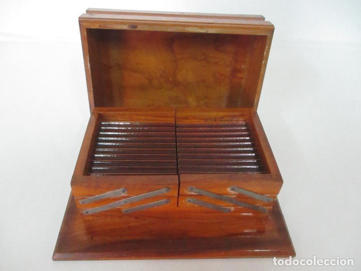 Cajas de Puros: Preciosa Caja de Puros y Cigarrillos - Madera de Olivo - con Departamentos - Bonita Decoración Tapa - Foto 11 - 112434847