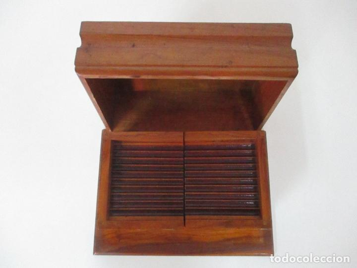 Cajas de Puros: Preciosa Caja de Puros y Cigarrillos - Madera de Olivo - con Departamentos - Bonita Decoración Tapa - Foto 12 - 112434847