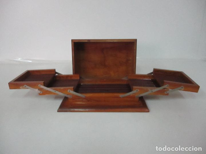 Cajas de Puros: Preciosa Caja de Puros y Cigarrillos - Madera de Olivo - con Departamentos - Bonita Decoración Tapa - Foto 13 - 112434847