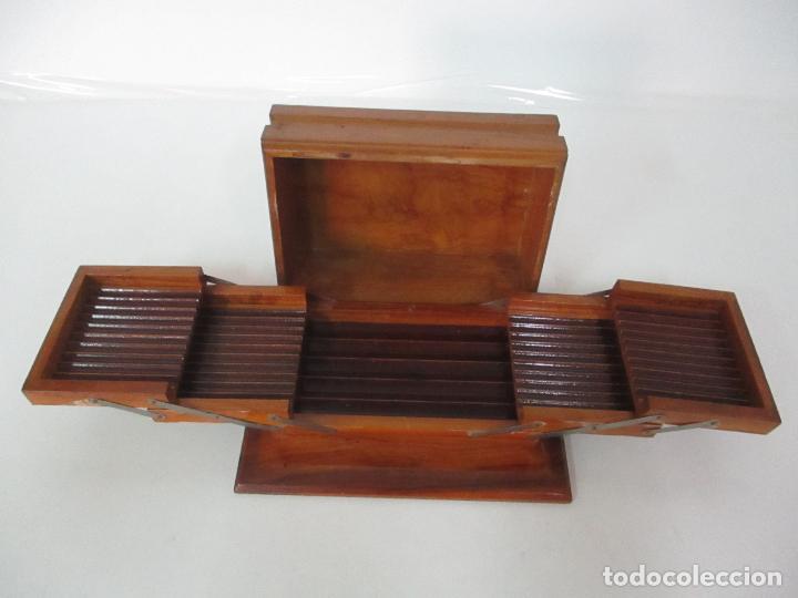 Cajas de Puros: Preciosa Caja de Puros y Cigarrillos - Madera de Olivo - con Departamentos - Bonita Decoración Tapa - Foto 15 - 112434847
