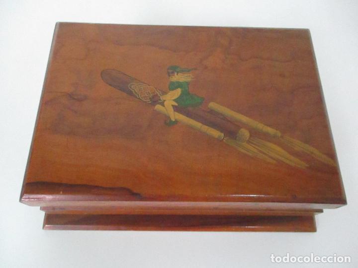 Cajas de Puros: Preciosa Caja de Puros y Cigarrillos - Madera de Olivo - con Departamentos - Bonita Decoración Tapa - Foto 16 - 112434847