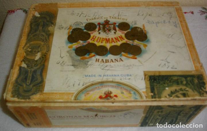 CAJA DE PUROS HABANOS .-CUBA MARCA POR HUPMAN (VACIA) PRE REBOLUCION (Coleccionismo - Objetos para Fumar - Cajas de Puros)
