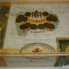 Cajas de Puros: CAJA DE PUROS HABANOS .-CUBA MARCA POR HUPMAN (VACIA) PRE REBOLUCION. Lote 112776011