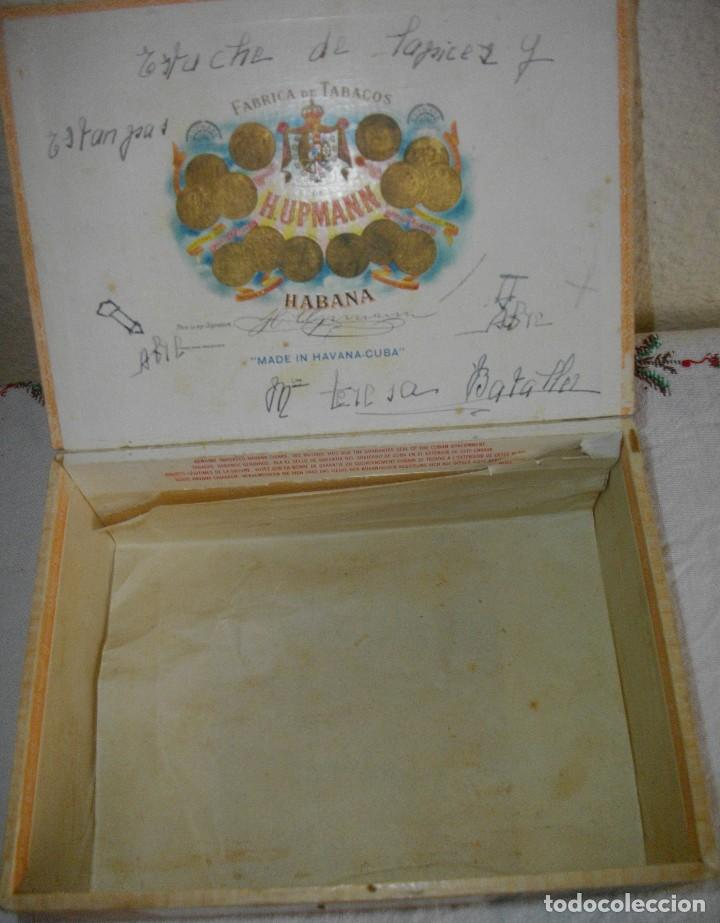 Cajas de Puros: CAJA DE PUROS HABANOS .-CUBA MARCA POR HUPMAN (VACIA) PRE REBOLUCION - Foto 2 - 112776011