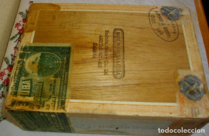 Cajas de Puros: CAJA DE PUROS HABANOS .-CUBA MARCA POR HUPMAN (VACIA) PRE REBOLUCION - Foto 3 - 112776011