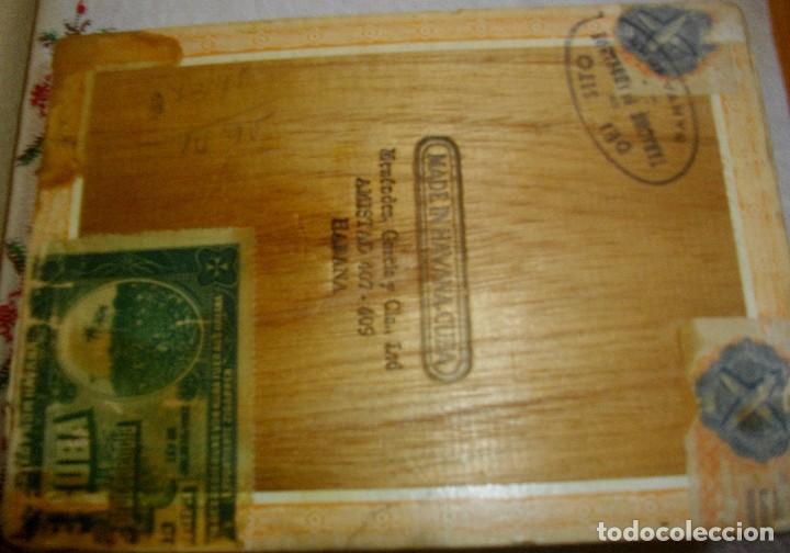 Cajas de Puros: CAJA DE PUROS HABANOS .-CUBA MARCA POR HUPMAN (VACIA) PRE REBOLUCION - Foto 4 - 112776011