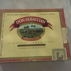 Cajas de Puros: CAJA DE PUROS DON SEBASTIAN SOLO LA CAJA. Lote 113053019