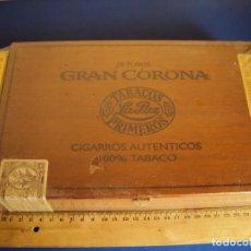 Cajas de Puros: (TA-180306)CAJA DE PUROS 25 TUBOS GRAN CORONA - TABACOS LA PAZ - PRECINTADA. Lote 114158499