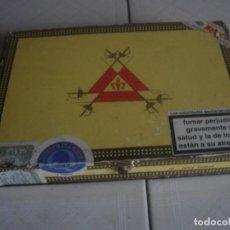 Cajas de Puros: CAJA DE PUROS DE MADERA MONTECRISTO: 10 PETIT TUBOS. . Lote 114261219