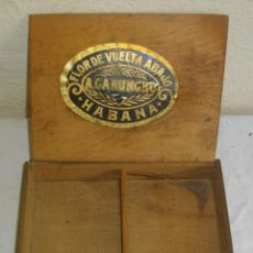 Cajas de Puros: EXCLUSIVA CAJA DE PUROS HAVANOS 1875 LA FLOR DE CARUNCHO (VACIA ) SELLO IMPERIO ESPAÑOL. Lote 114324099