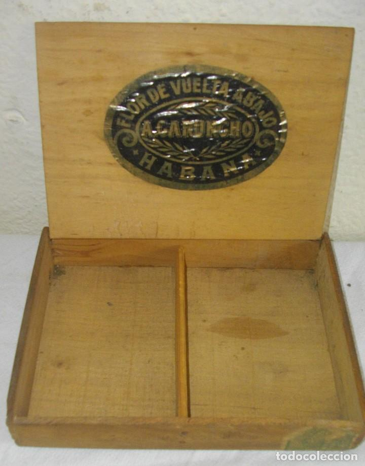 Cajas de Puros: EXCLUSIVA Caja de Puros Havanos 1875 LA FLOR DE CARUNCHO (vacia ) SELLO Imperio ESPAÑOL - Foto 4 - 114324099