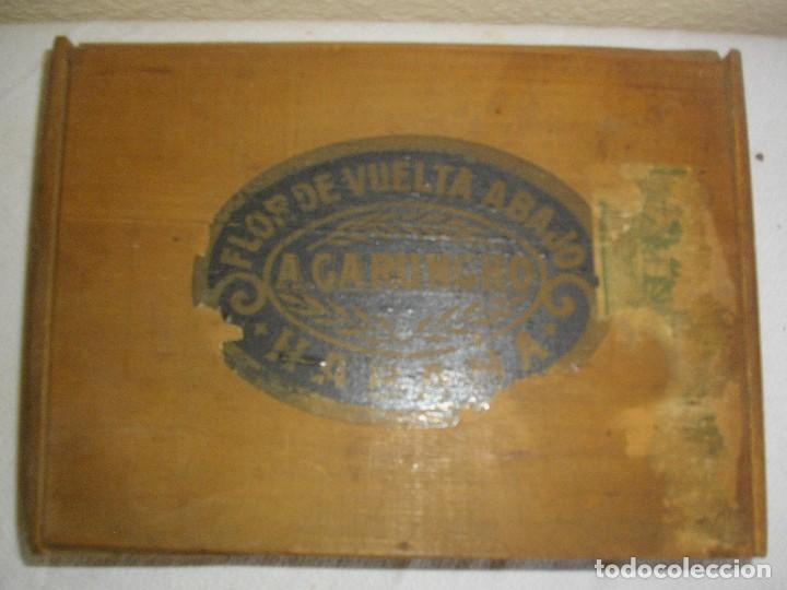 Cajas de Puros: EXCLUSIVA Caja de Puros Havanos 1875 LA FLOR DE CARUNCHO (vacia ) SELLO Imperio ESPAÑOL - Foto 6 - 114324099