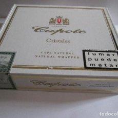 Cajas de Puros: CAJA DE PUROS - 20 CAPOTE CRISTALES - TIENE 6 PUROS PRECINTADOS DE UNA BODA DE 2005. Lote 287842153