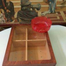 Cajas de Puros: PUROS FARIAS CAJA MADERA +CENICERO. Lote 114692663