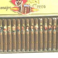Cajas de Puros: CAJA 25 PUROS CONMEMORATIVA VITOLAS PERSONAJES EL GRECO - EDICION LIMITADA SIN DESPRECINTAR. Lote 157708197