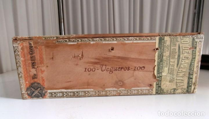 Cajas de Puros: ANTIGUA CAJA DE MADERA DE PUROS FLOR DE ALTA MAR. 100 VEGUEROS - Foto 5 - 115109011