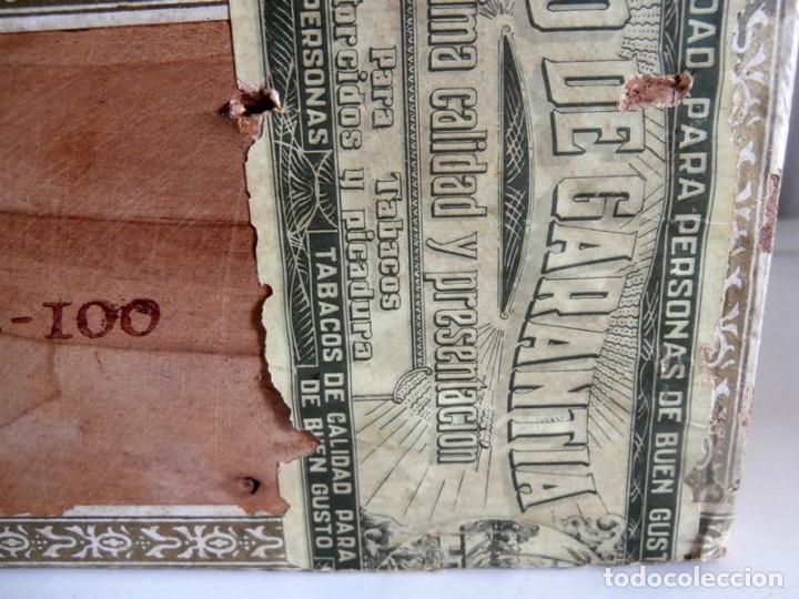 Cajas de Puros: ANTIGUA CAJA DE MADERA DE PUROS FLOR DE ALTA MAR. 100 VEGUEROS - Foto 6 - 115109011