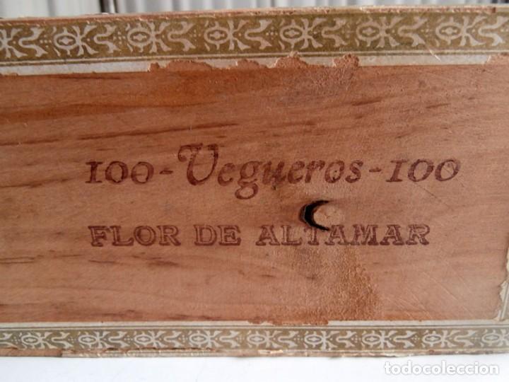 Cajas de Puros: ANTIGUA CAJA DE MADERA DE PUROS FLOR DE ALTA MAR. 100 VEGUEROS - Foto 8 - 115109011