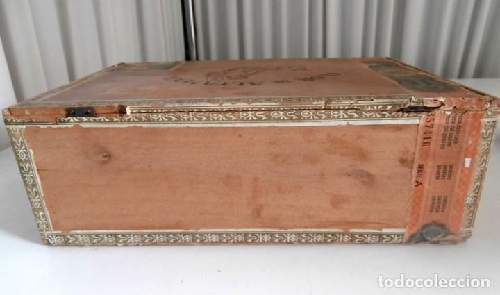 Cajas de Puros: ANTIGUA CAJA DE MADERA DE PUROS FLOR DE ALTA MAR. 100 VEGUEROS - Foto 9 - 115109011