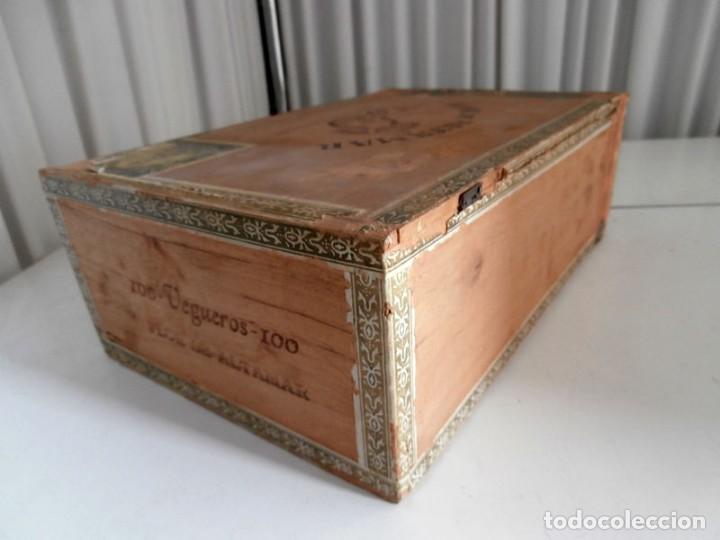 Cajas de Puros: ANTIGUA CAJA DE MADERA DE PUROS FLOR DE ALTA MAR. 100 VEGUEROS - Foto 10 - 115109011