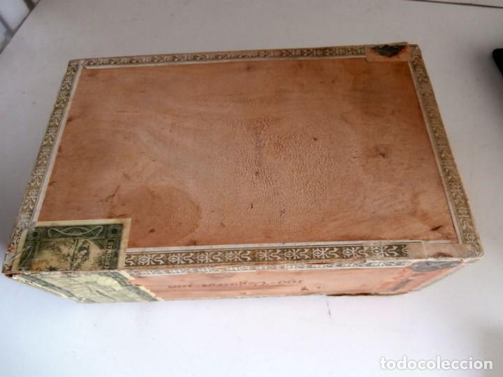 Cajas de Puros: ANTIGUA CAJA DE MADERA DE PUROS FLOR DE ALTA MAR. 100 VEGUEROS - Foto 11 - 115109011