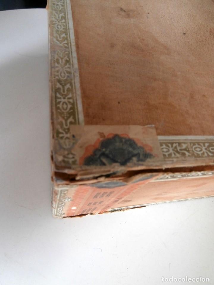 Cajas de Puros: ANTIGUA CAJA DE MADERA DE PUROS FLOR DE ALTA MAR. 100 VEGUEROS - Foto 13 - 115109011