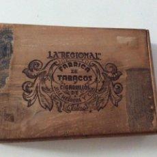 Cajas de Puros: ANTIGUA CAJA DE PUROS LA REGIONAL LAS PALMAS TABACOS Y CIGARRILLOS DE JOSE HERRERA Y CIA. Lote 97047567