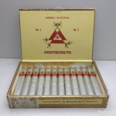 Cajas de Puros: CAJA DE MONTECRISTO Nº 4 CON 12 PUROS DON JULIAN 2. Lote 115911539