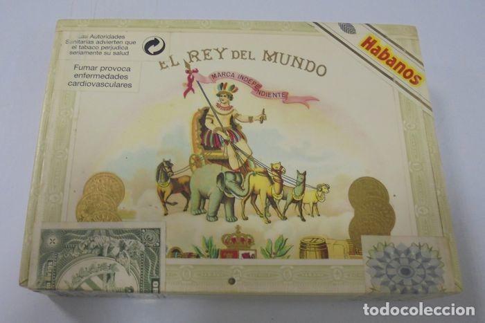 CAJA DE PUROS. EL REY DEL MUNDO. 25 DEMI TASSE. AÑO 2000. CERRADA. PERFECTO ESTADO. VER FOTOS (Coleccionismo - Objetos para Fumar - Cajas de Puros)