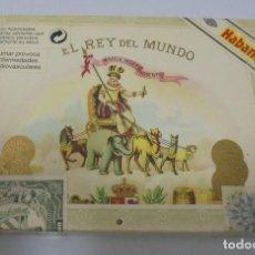Cajas de Puros: CAJA DE PUROS. EL REY DEL MUNDO. 25 DEMI TASSE. AÑO 2000. CERRADA. PERFECTO ESTADO. VER FOTOS. Lote 116521071