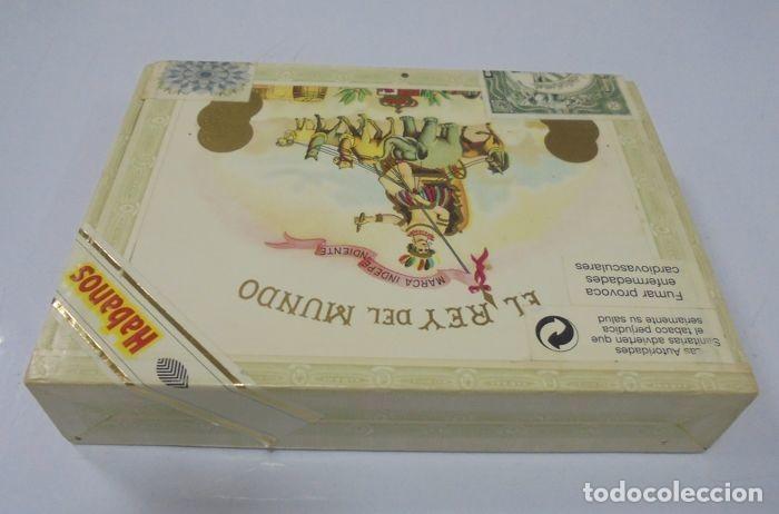 Cajas de Puros: CAJA DE PUROS. EL REY DEL MUNDO. 25 DEMI TASSE. AÑO 2000. CERRADA. PERFECTO ESTADO. VER FOTOS - Foto 4 - 116521071