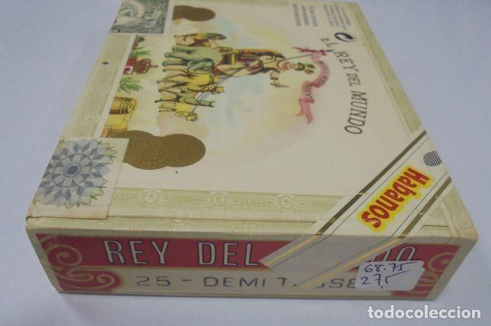 Cajas de Puros: CAJA DE PUROS. EL REY DEL MUNDO. 25 DEMI TASSE. AÑO 2000. CERRADA. PERFECTO ESTADO. VER FOTOS - Foto 7 - 116521071