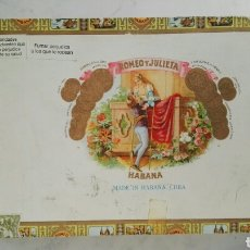 Cajas de Puros: ANTIGUA CAJA DE HABANOS PUROS ROMEO Y JULIETA VACÍA. Lote 116874876