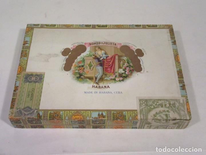 CAJA DE PUROS ROMEO Y JULIETA. MADE IN HABANA, CUBA. VACÍA. (Coleccionismo - Objetos para Fumar - Cajas de Puros)