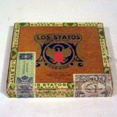 Cajas de Puros: CAJA DE PUROS LOS STATOS DE LUXE. HABANA. HECHO EN CUBA. VACÍA.. Lote 117392767