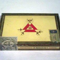 Cajas de Puros: CAJA DE PUROS. MONTECRISTO. HABANA. CUBA. VACÍA.. Lote 117393215